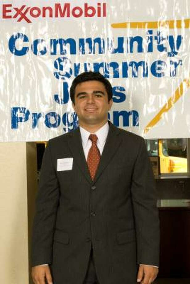 Jack Najarian of Sugar Land is among 65 undergraduate college students selected to participate in the 11th annual ExxonMobil Community Summer Jobs Program in Houston.