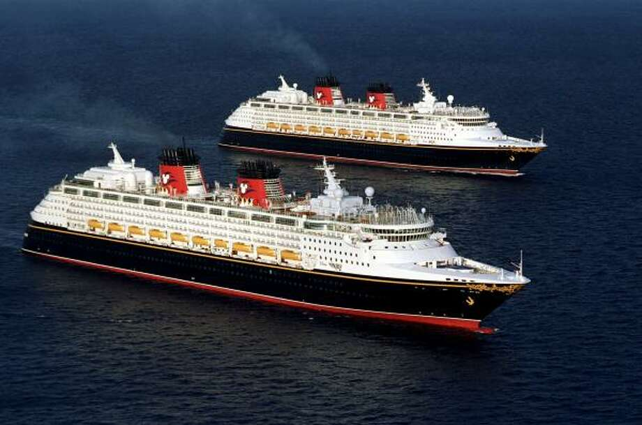 The Disney Wonder' was voted best large ship in a Condé Nast poll. Photo: DISNEY