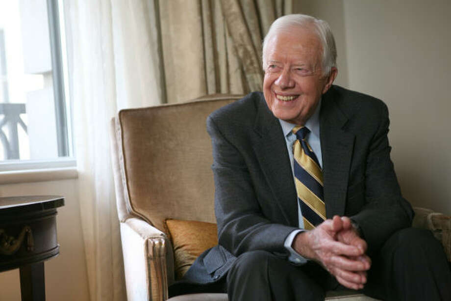 Former President Carter has written the book We Can Have Peace in the Holy Land. Photo: Diane Bondareff, Associated Press