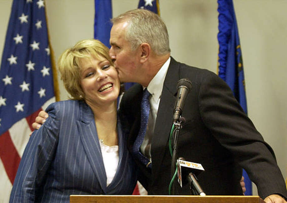 Jim and Dawn Gibbons are shown in happier times in 2003. Photo: JOE CAVARETTA, Associated Press