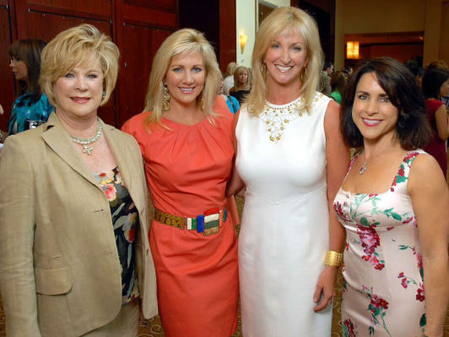 Mary Austin Moody, Anne Carl, Kim Moody and Maria Bush at the Children's Assessment Center luncheon. Photo: Dave Rossman, For The Chronicle