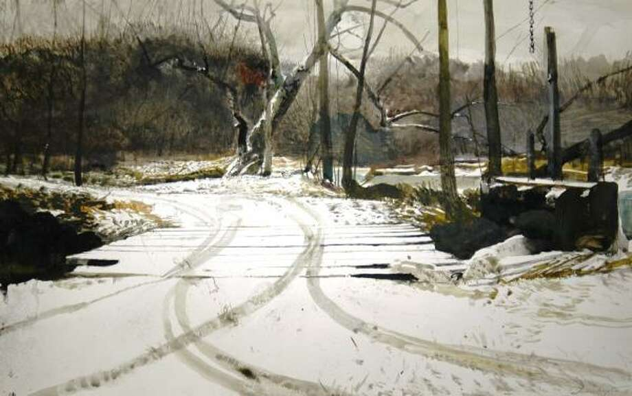 An art gallery owner recovered this Andrew Wyeth painting, stolen from a River Oaks estate in 2000. Photo: RAY SIMPSON JR., SIMPSON GALLERIES