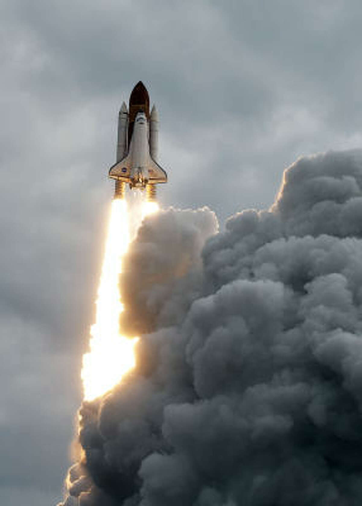 The space shuttle Endeavour lifts off on the STS-134 mission to the international space station from launch pad 39 A at NASA's Kennedy Space Center Monday, May 16, 2011, in Kennedy Space Center.