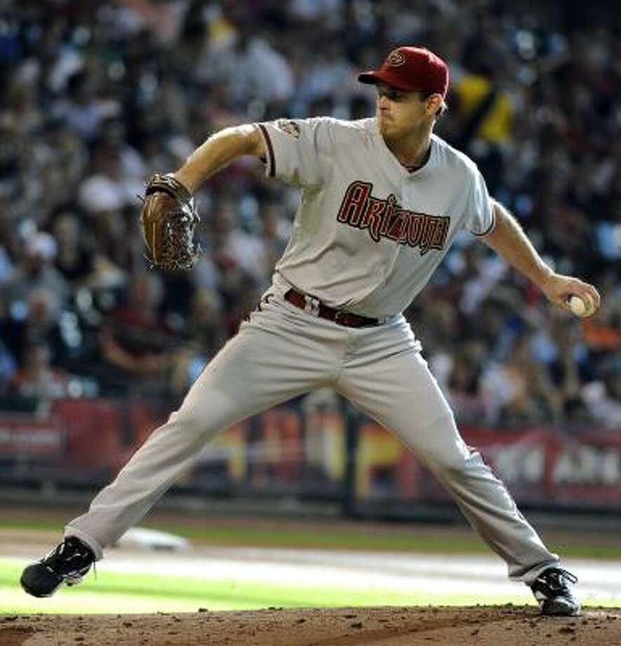 Diamondbacks pitcher Zach Duke, acquired from the Pirates in the offseason, held the Astros to three hits in his season debut. Photo: Pat Sullivan, Associated Press