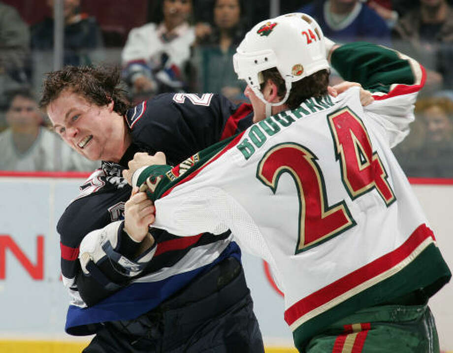 Derek Boogaard became an instant hit with the Minnesota Wild as one of the NHL's most-feared enforcers. Photo: Jeff Vinnick, Getty Images