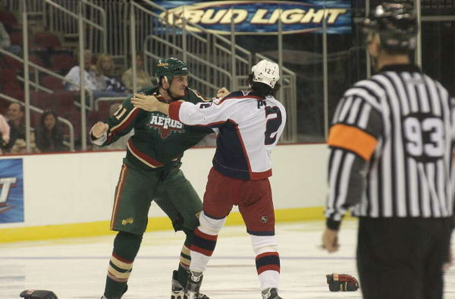 Derek Boogaard started his pro career with the Aeros. Photo: Bill Olive, For The Chronicle