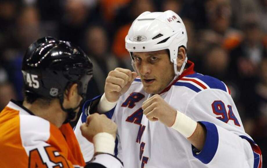 Derek Boogaard was nicknamed 'The Boogeyman' for his size (6-7, 245) and his fighting prowess. Photo: Matt Slocum, Associated Press