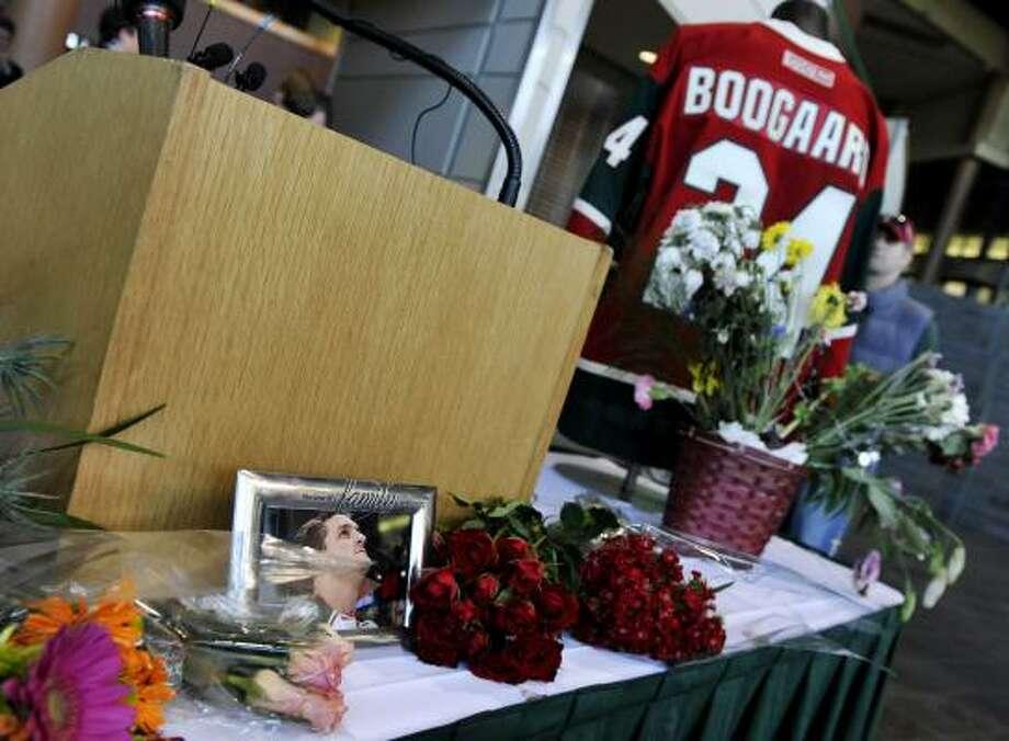 The family of Derek Boogaard agreed to donate his brain to medical researchers. Photo: Jim Mone, Associated Press