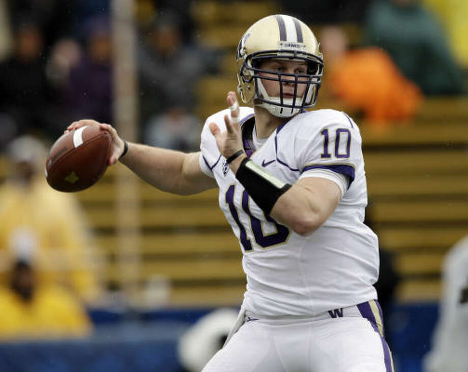 Tennessee TitansDesperate for a quarterback, they reached for Jake Locker (pictured) but didn't want to chance losing him if they traded down. Akeem Ayers should start from Day One. Jurrell Casey was an excellent third-round pick who also could start as a rookie.Grade: B-minus Photo: Marcio Jose Sanchez, AP