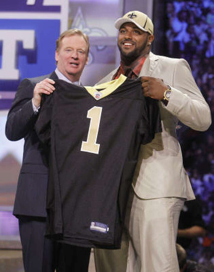 New Orleans Saints   An outstanding first round with Cameron Jordan and Mark Ingram (pictured), both of whom could start as rookies. Jordan can play inside or outside. Trading back into the first round for Ingram was brilliant. Injuries decimated the backfield last season. Martez Wilson and Johnny Patrick will contribute immediately and could start eventually. Grade: A Photo: Jason DeCrow, AP