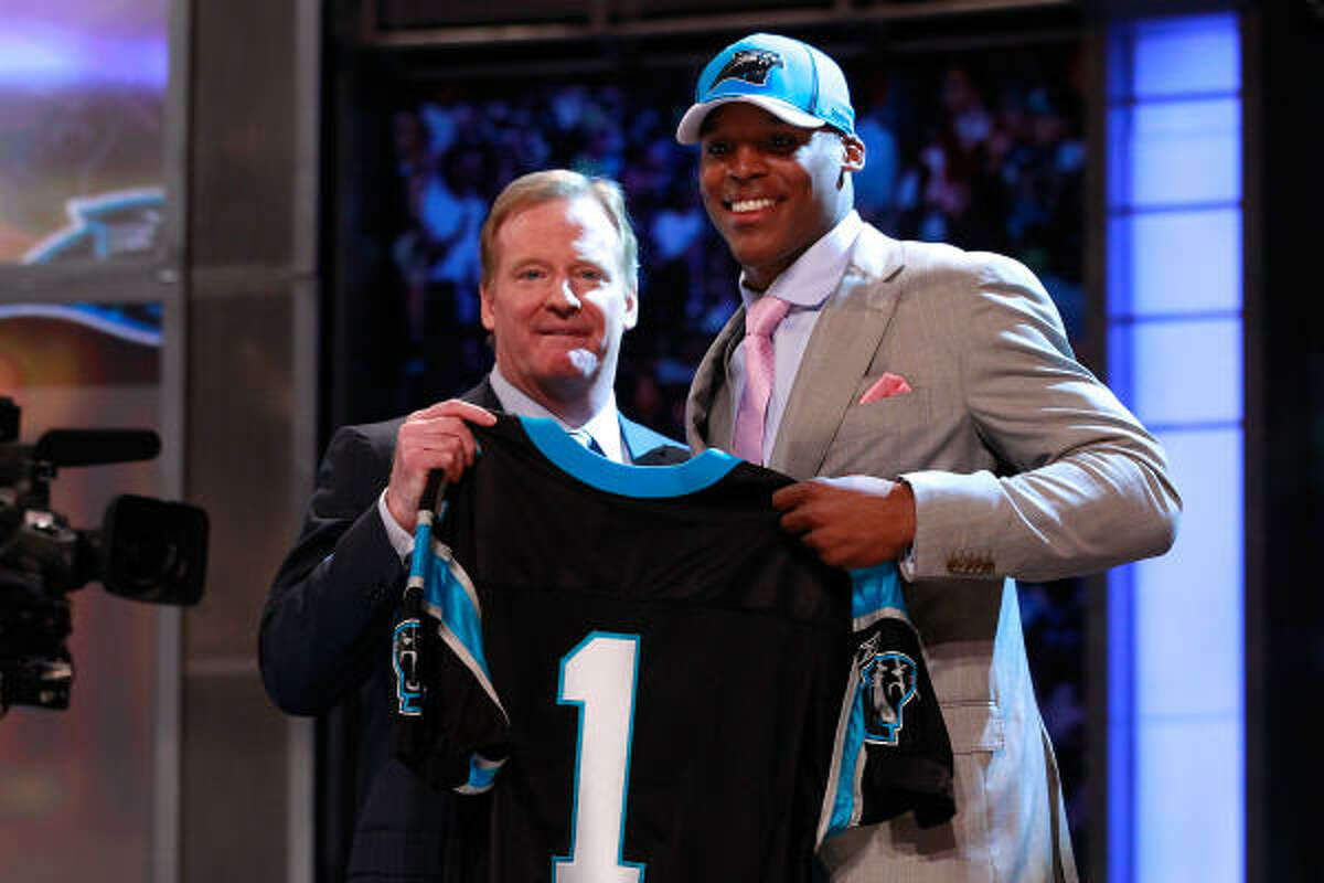 1. Carolina Panthers Cam Newton, QB, Auburn