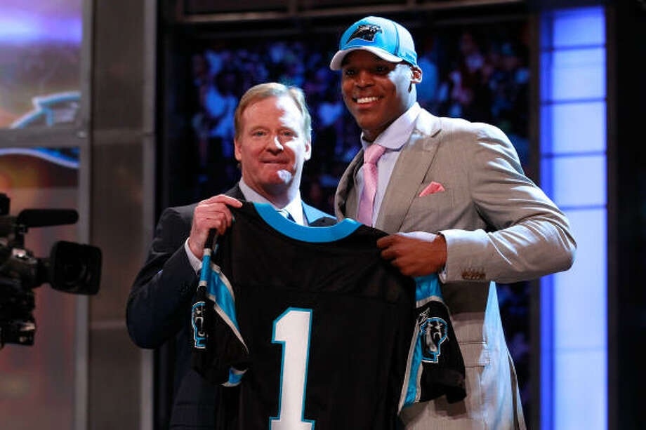 Carolina PanthersThey're taking a huge chance on Cam Newton (pictured). They needed to give him some targets and production. They had no second-round pick. Terrell McClain and Sione Fua should elevate the performance of a defensive line. Keep an eye on Brandon Hogan.Grade: C Photo: Chris Trotman, Getty Images