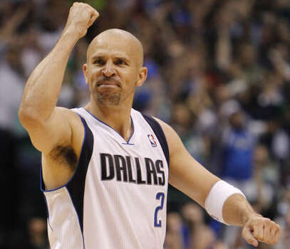 Western Conference Game 5: No. 3 Mavericks 93, No. 6 Trail Blazers 82 (Mavs lead 3-2)  Dallas point guard Jason Kidd pumps his fist during the fourth quarter. Kidd had 14 assists and seven rebounds in the victory. Photo: LM Otero, AP