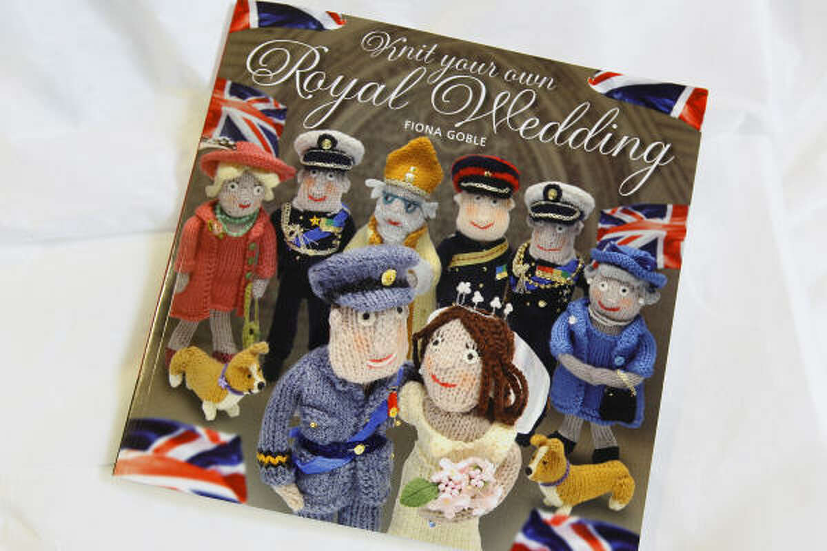 If you're crafty, buy a book by Fiona Goble entitled ' Knit Your Own Royal Wedding' . The bride's dress, it can now be revealed, is made of wool. So are the groom, the guests and the royal corgi.