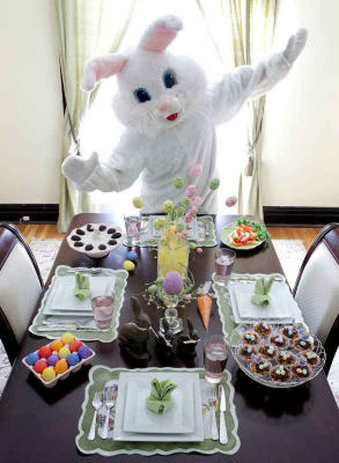 Real bunnies don't worry about table settings. Photo: John L. White, MCT