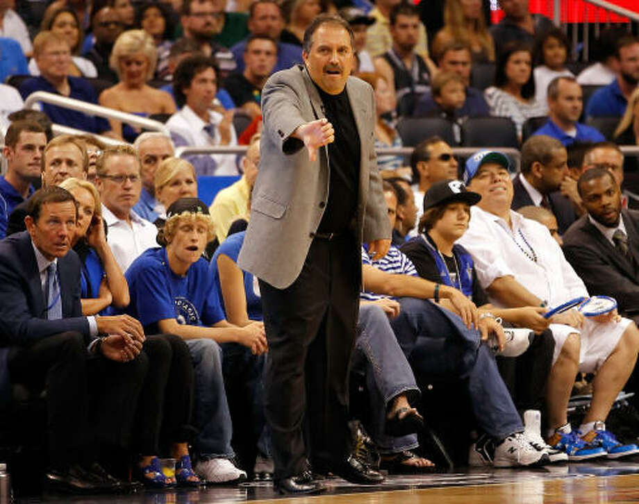 If he's out there. ...      Stan Van Gundy     If he leaves Orlando, he and Rick Adelman will be on the top of many lists. Would be ideal fit. Photo: J. Meric, Getty Images