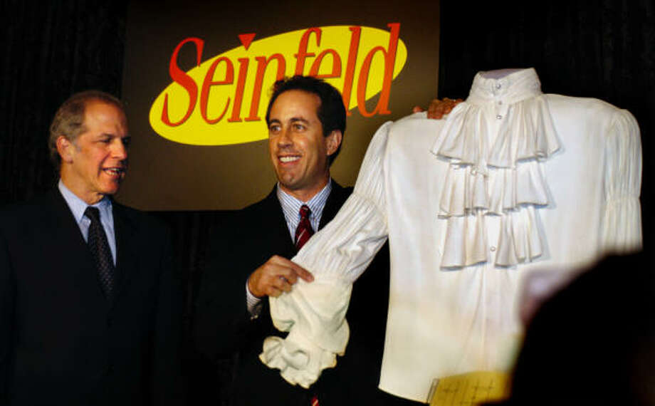 "The ""puffy shirt"" from an episode of ""Seinfeld."" Photo: GERALD MARTINEAU, ASSOCIATED PRESS"