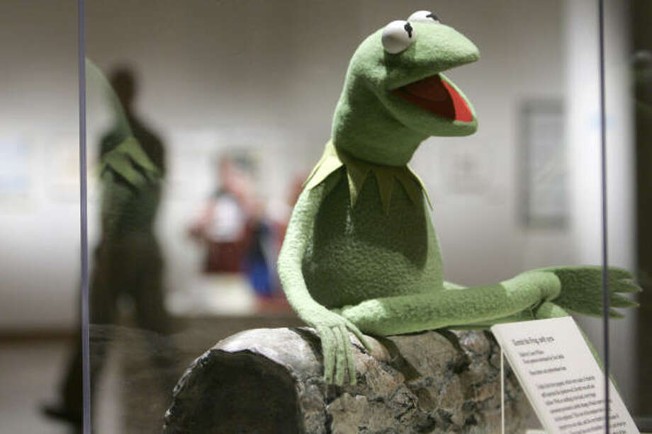 Here's the original Kermit the Frog made by Jim Henson. Photo: Danny Johnston, ASSOCIATED PRESS