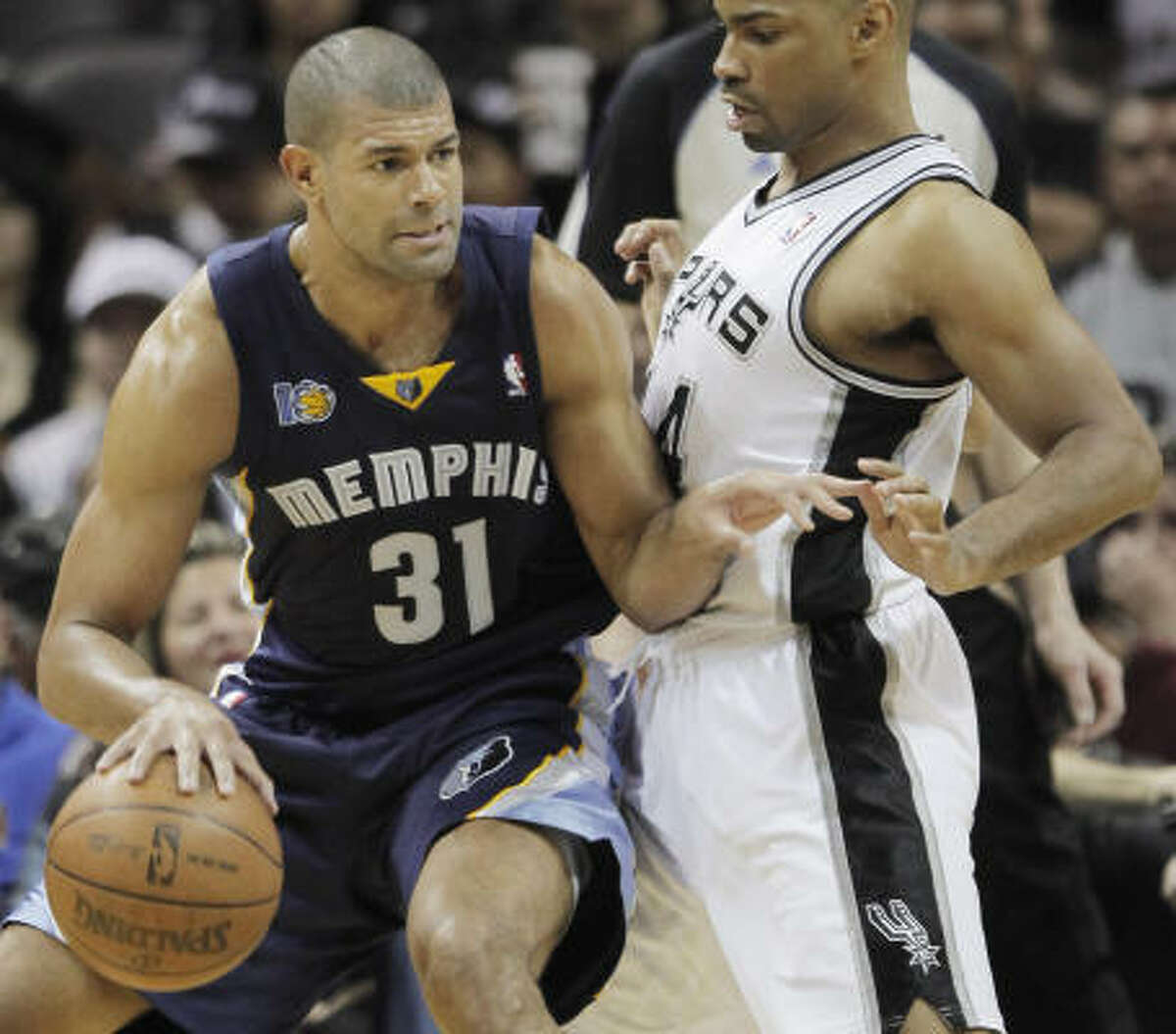 Shane Battier, Grizzlies Battier spent 5 1/2 seasons with the Rockets before he was shipped back to the Grizzlies.