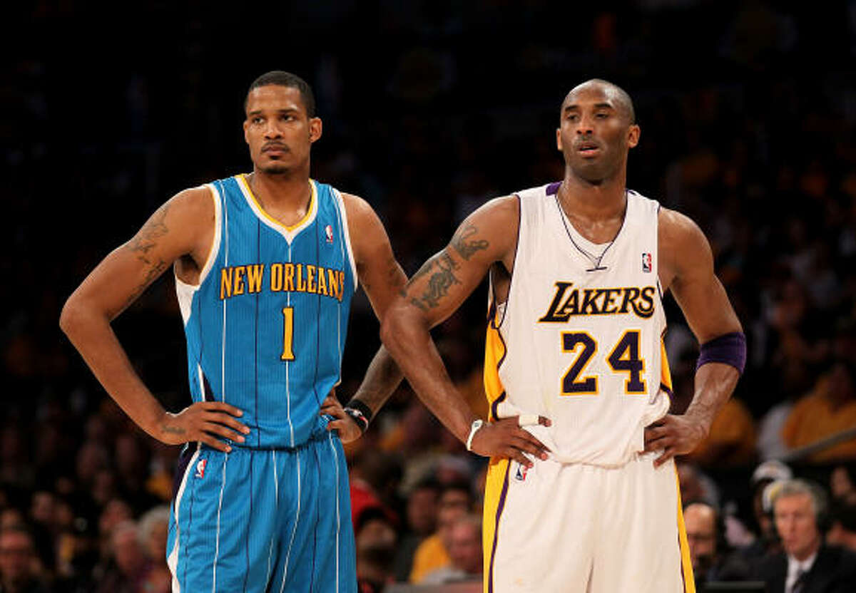 Trevor Ariza, Hornets Ariza, left, averaged 14.9 points in his one season with the Rockets (2009-10). The small forward was dealt to New Orleans as part of a four-team trade in August 2010.