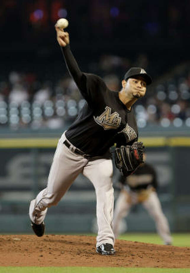 Marlins pitcher Anibal Sanchez gave up 13 hits. Photo: Thomas B. Shea, Getty Images