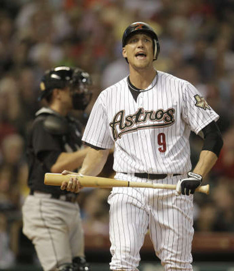 Hunter Pence screams out after striking out during the eighth inning. Photo: Karen Warren, Chronicle
