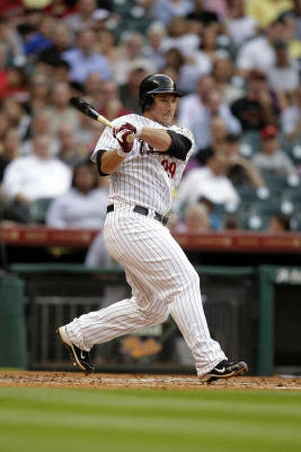 Brett Wallace bats during the second inning. Photo: Karen Warren, Chronicle