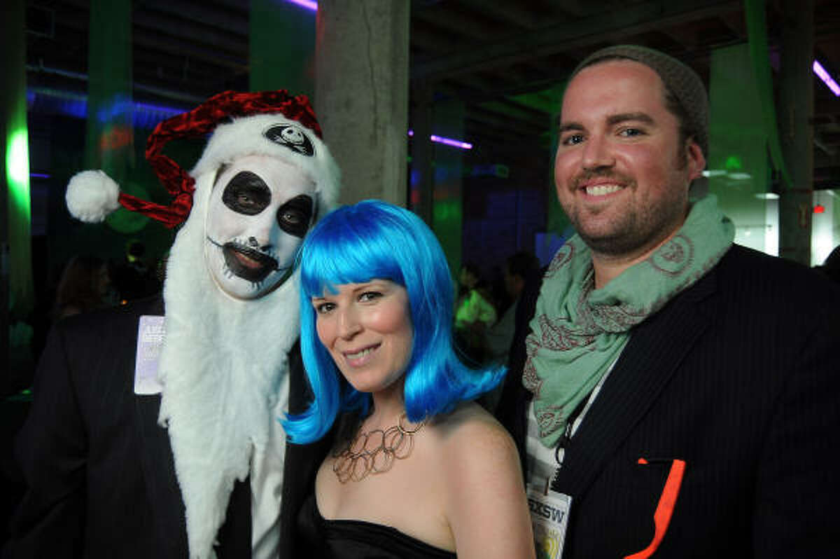 Chairs James Phelan, Carey Kirkpatrick and Jonathan Beitler (as Tim Burton's Nightmare Before Christmas, Katy Perry and the SXSW festival)