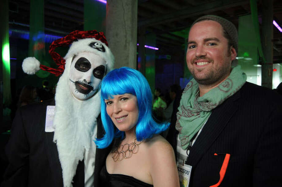 Chairs James Phelan, Carey Kirkpatrick and Jonathan Beitler (as Tim Burton's Nightmare Before Christmas, Katy Perry and the SXSW festival) Photo: Dave Rossman, For The Chronicle