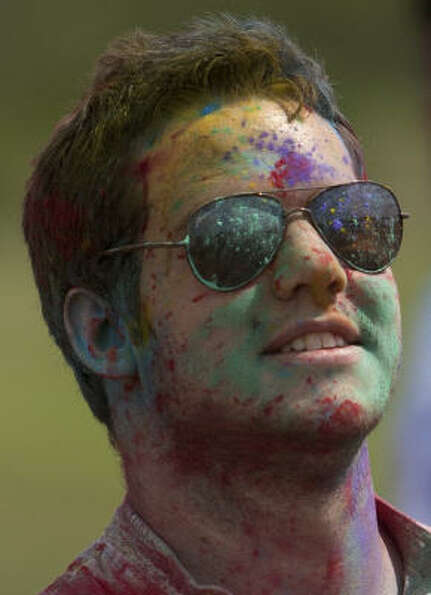The Holi spirit even brought together people across religions; the event in Rosenberg is open to all