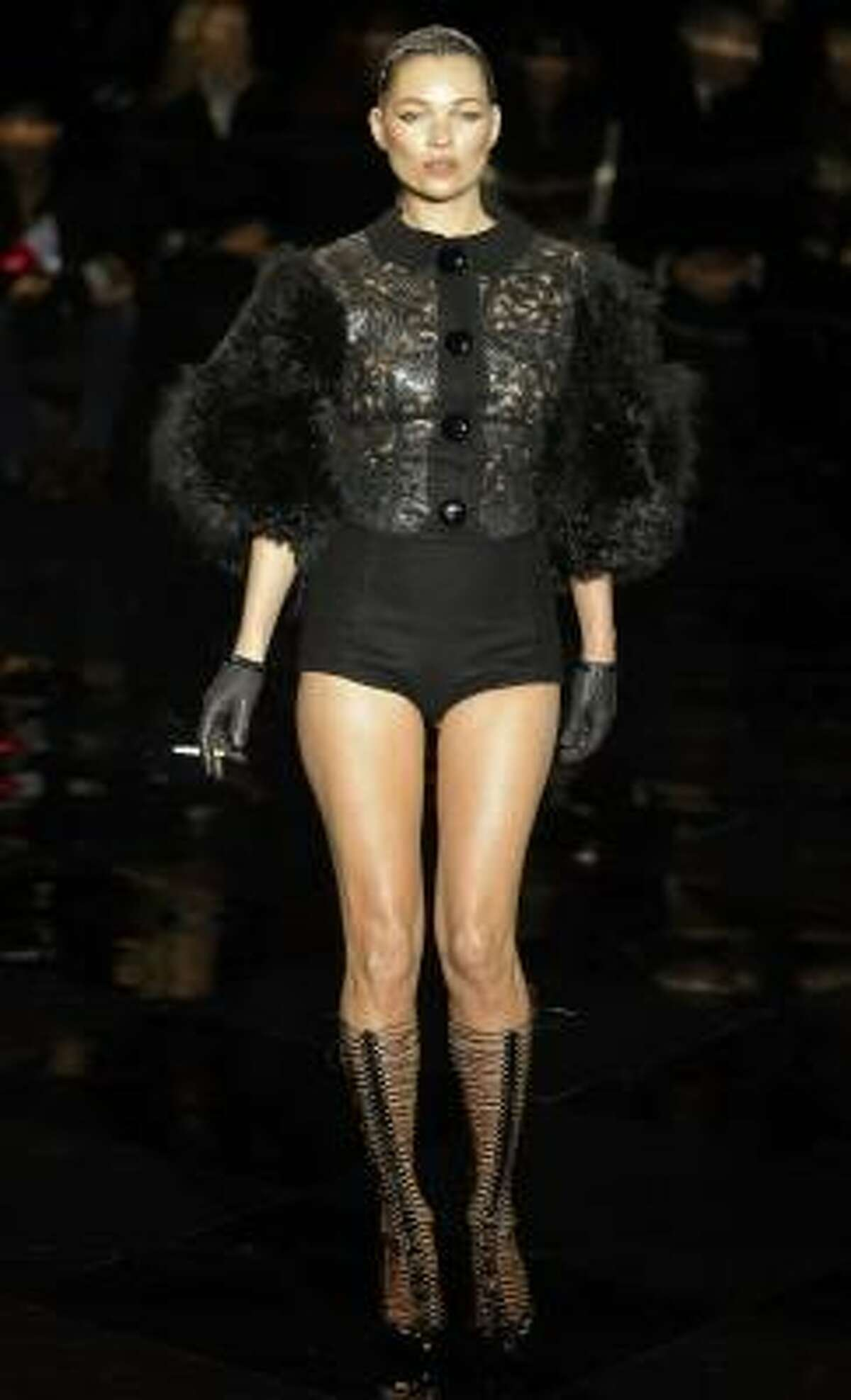 British model Kate Moss in Marc Jacobs for Louis Vuitton
