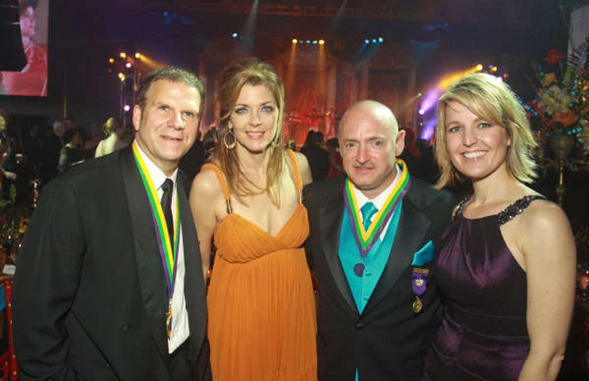 Tilman and Paige Fertitta with astronaut Mark Kelly and U.S. Rep. Gabrielle Gifford's nurse, Tracy Culbert