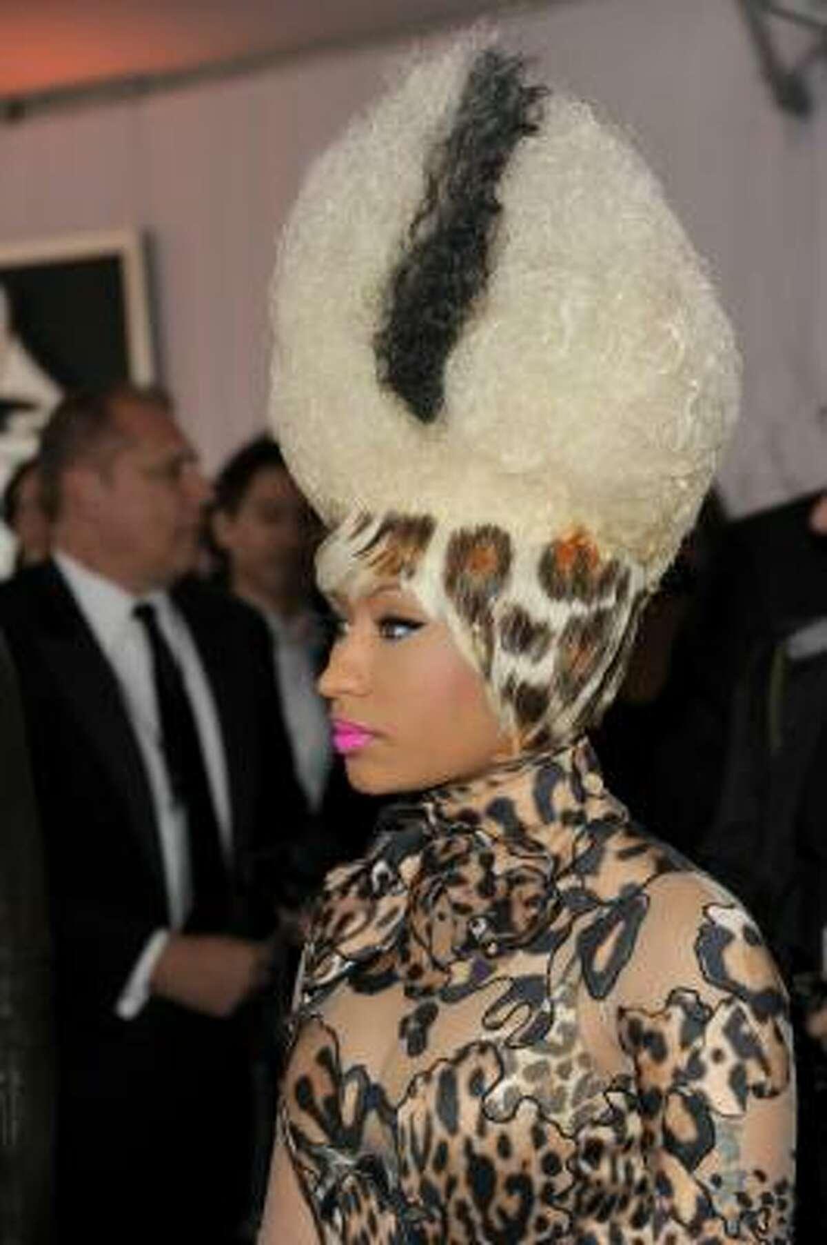 Rapper Nicki Minaj arrives at The 53rd Annual GRAMMY Awards held at Staples Center.