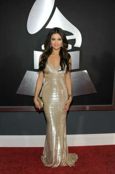Singer Selena Gomez arrives at The 53rd Annual GRAMMY Awards held at Staples Center.