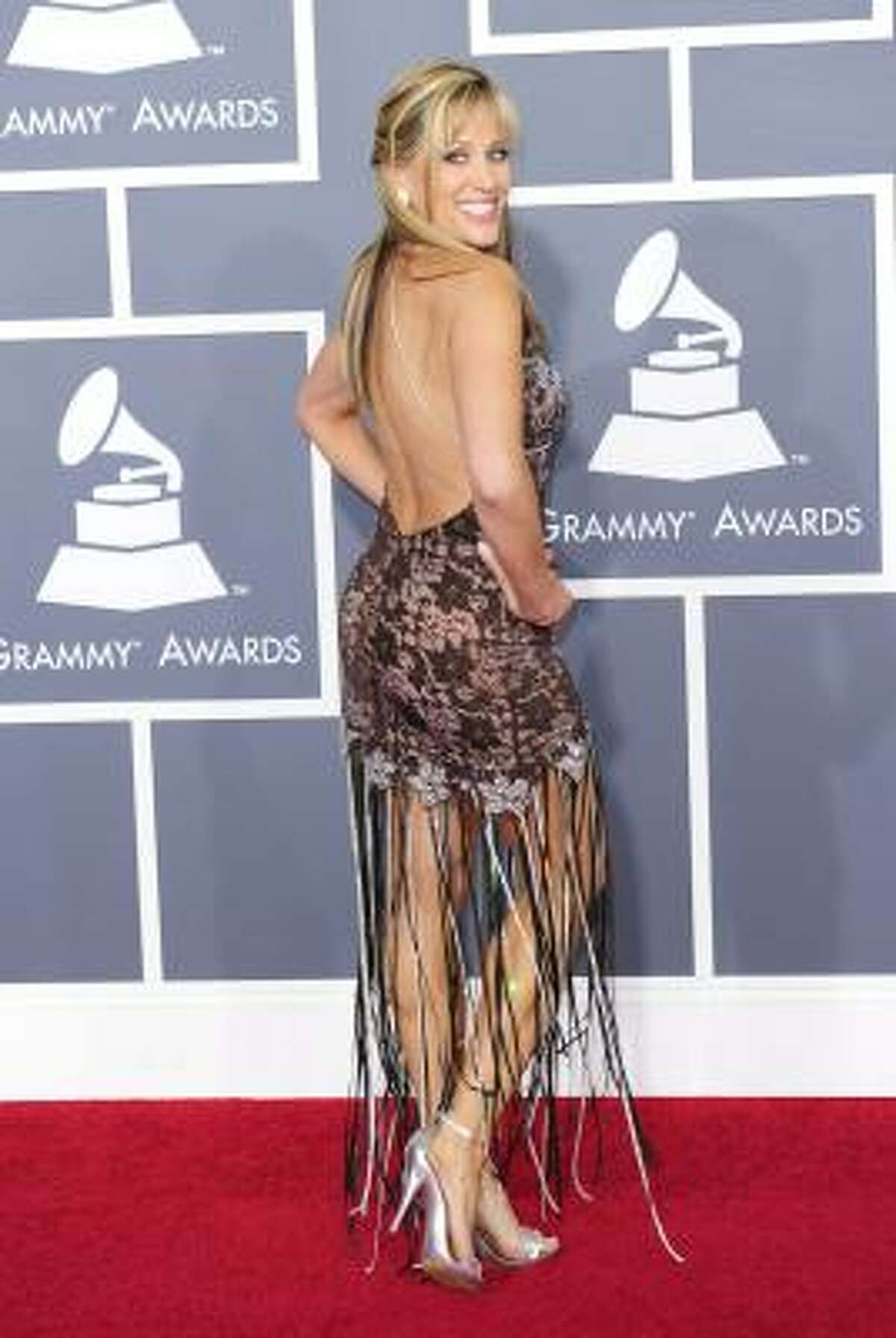 Singer Lilian Garcia arrives for the 53rd Annual Grammy Awards at the Staples Center.