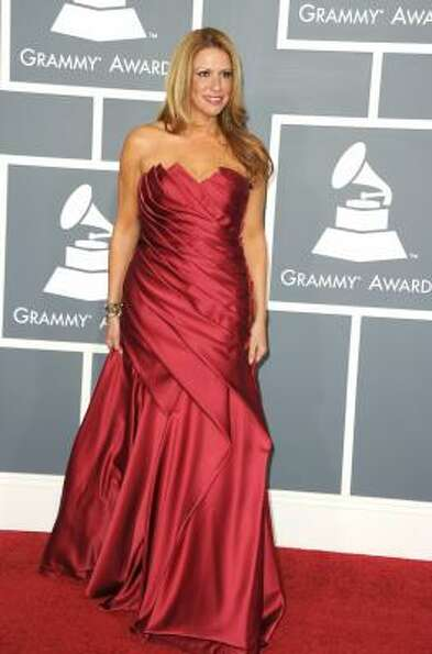 Singer Karina Nuvo arrives at The 53rd Annual GRAMMY Awards held at Staples Center.