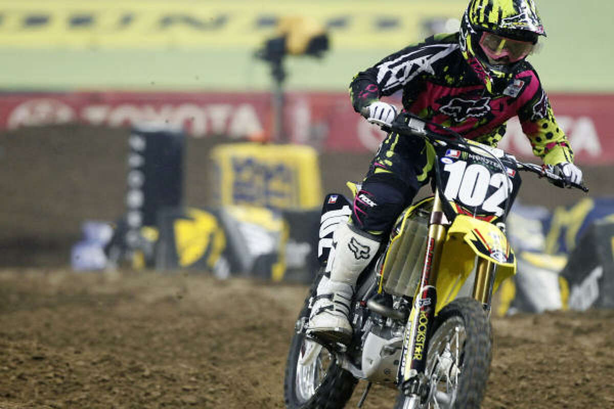 Christopher Gosselaar rides the whoops during the preliminary heat races.