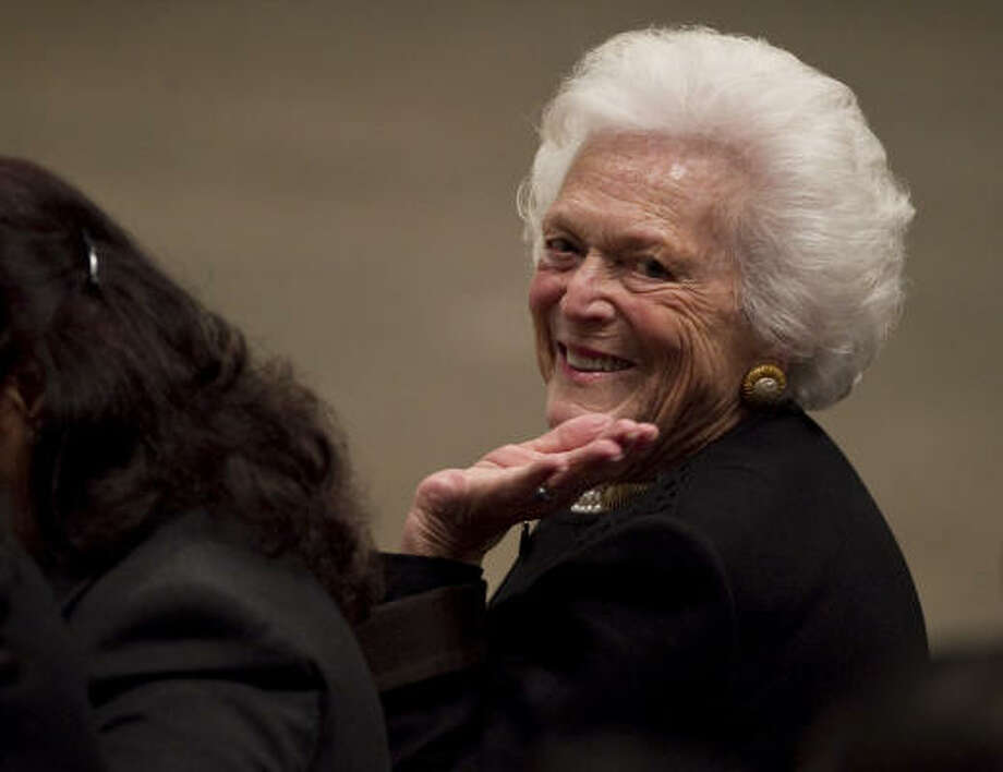"""Similar to her daughter-in-law, Barbara Bush's codename """"Tranquility"""" gives a peaceful portrayal. Photo: Nick De La Torre, Houston Chronicle"""