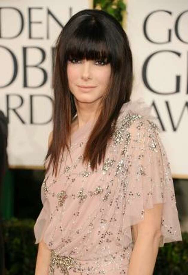 Sandra Bullock's bang debut Photo: Jason Merritt, Getty Images
