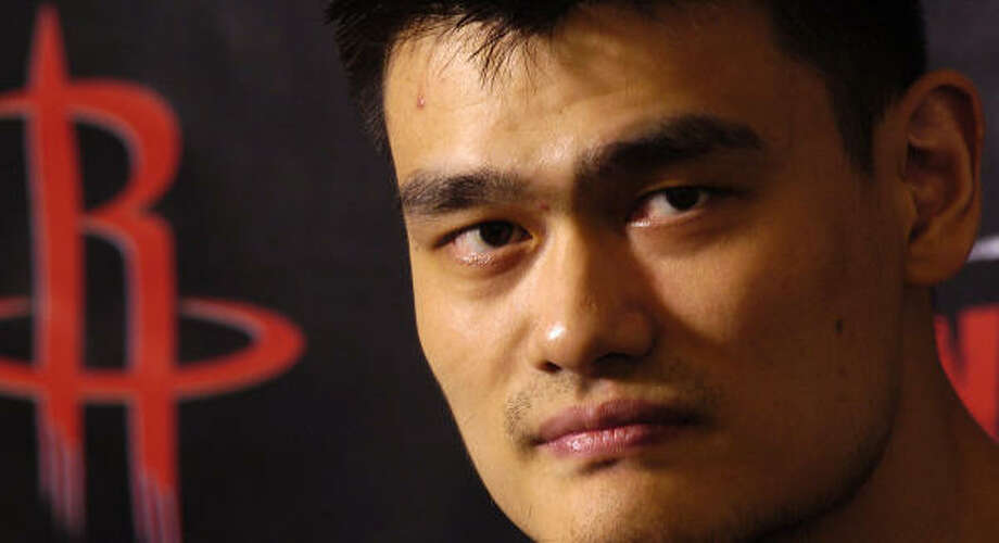 All eyes will be on Yao Ming and his foot, which caused him to miss part of last season, as the Rockets go through training camp. Photo: Dave Rossman, For The Chronicle
