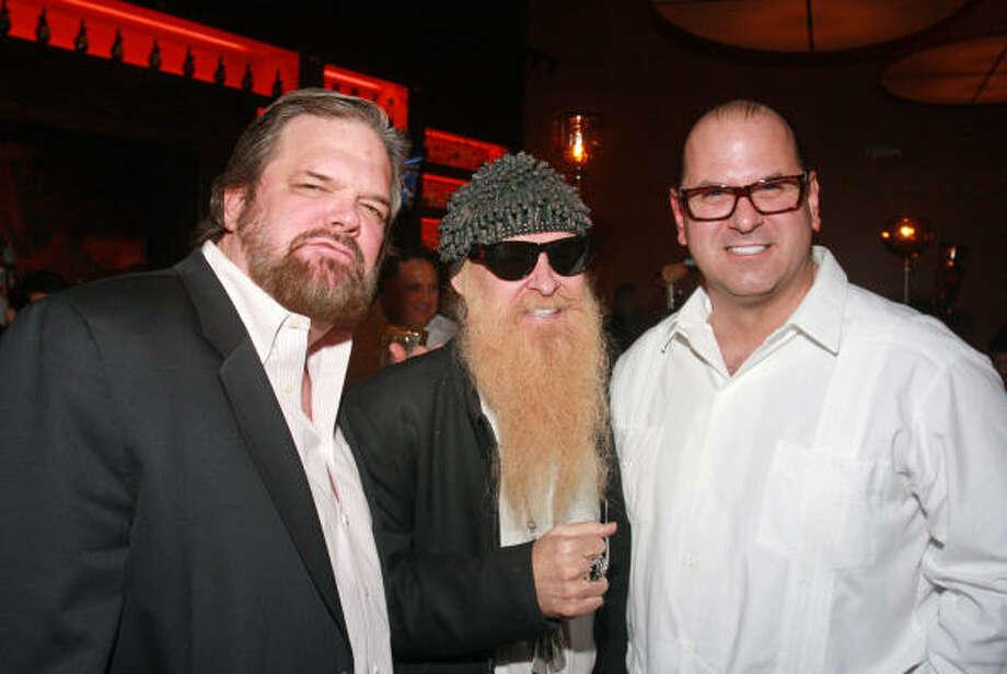 J. P. Shellnutt,  Billy Gibbons and Stewart Skloss Photo: Gary Fountain, For The Chronicle
