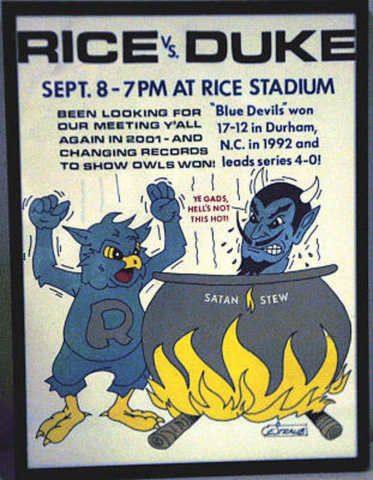 Rice vs. Duke (Sept. 8, 2001)