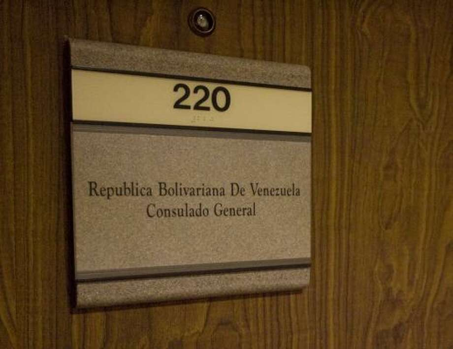 The U.S. State Department closed the Venezuelan Consulate in Houston and revoked visas of diplomats and consular officials. Photo: JAMES NIELSEN, CHRONICLE