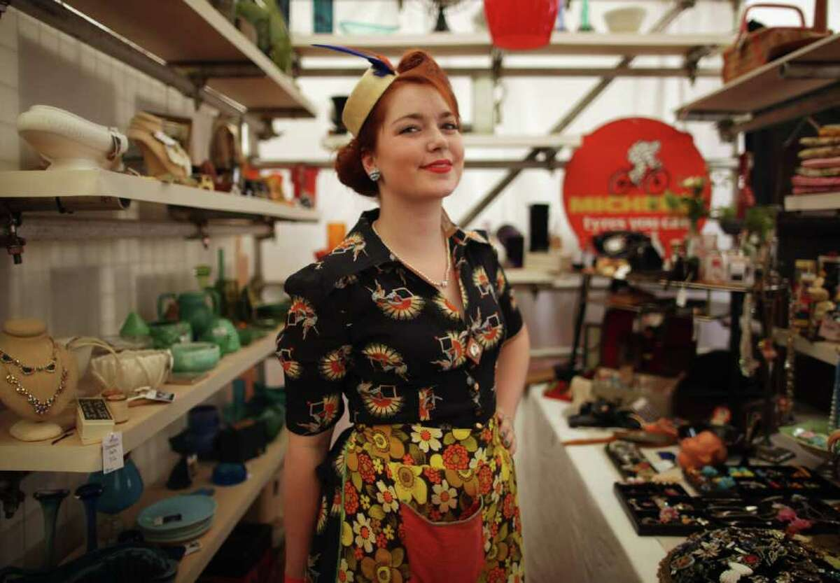 London's Vintage Festival, from July 29 to 31, 2011, celebrates seven decades of British cool, including music, dance, fashion, food, art, design and film from the 1920s to the 1980s at the Royal Festival Hall. Here's Hannah Fichling in her vintage finery.