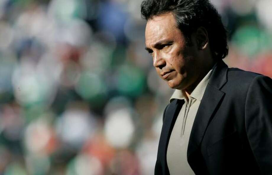 Hugo Sanchez failed get Mexico a CONCACAF Gold Cup title, and his U-23 team didn't qualify for the Olympics. Photo: Marcio Jose Sanchez, AP