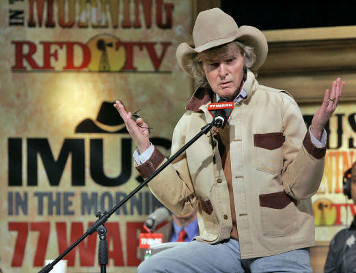 Radio personality Don Imus, who works now for the ABC Radio Networks and RFD-TV after being fired by CBS Radio and MSNBC in spring 2007, insists that his show still has an edge.