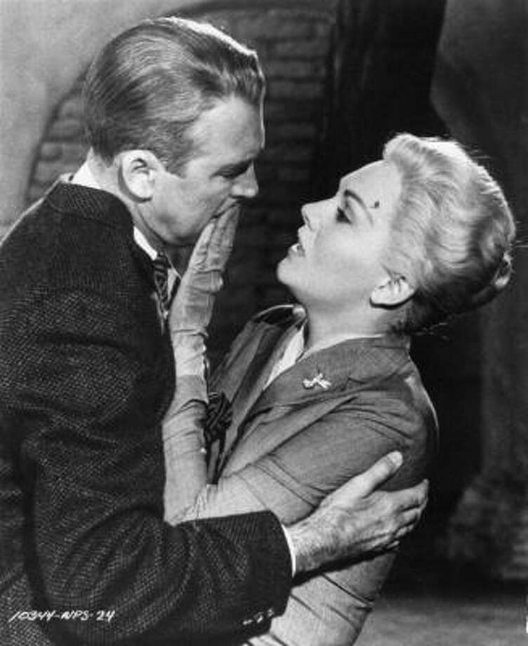 In Vertigo, James Stewart's Scottie obsesses over Kim Novak's Madeleine, loses her, then remakes a second woman in her image. Photo: ASSOCIATED PRESS