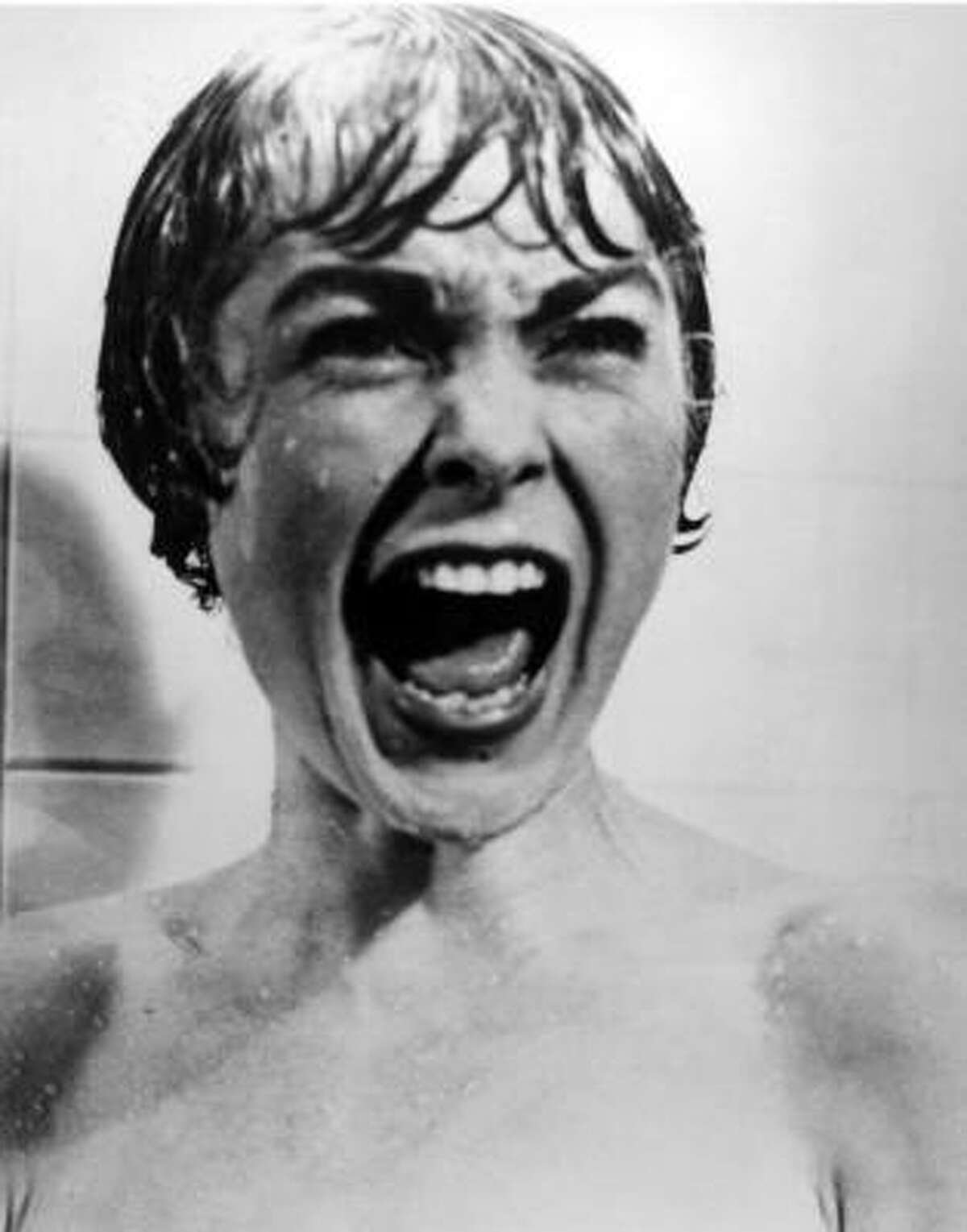 Janet Leigh meets her fiance in Psycho. Hitchcock's killing of the female lead less than halfway through the film stunned audiences.