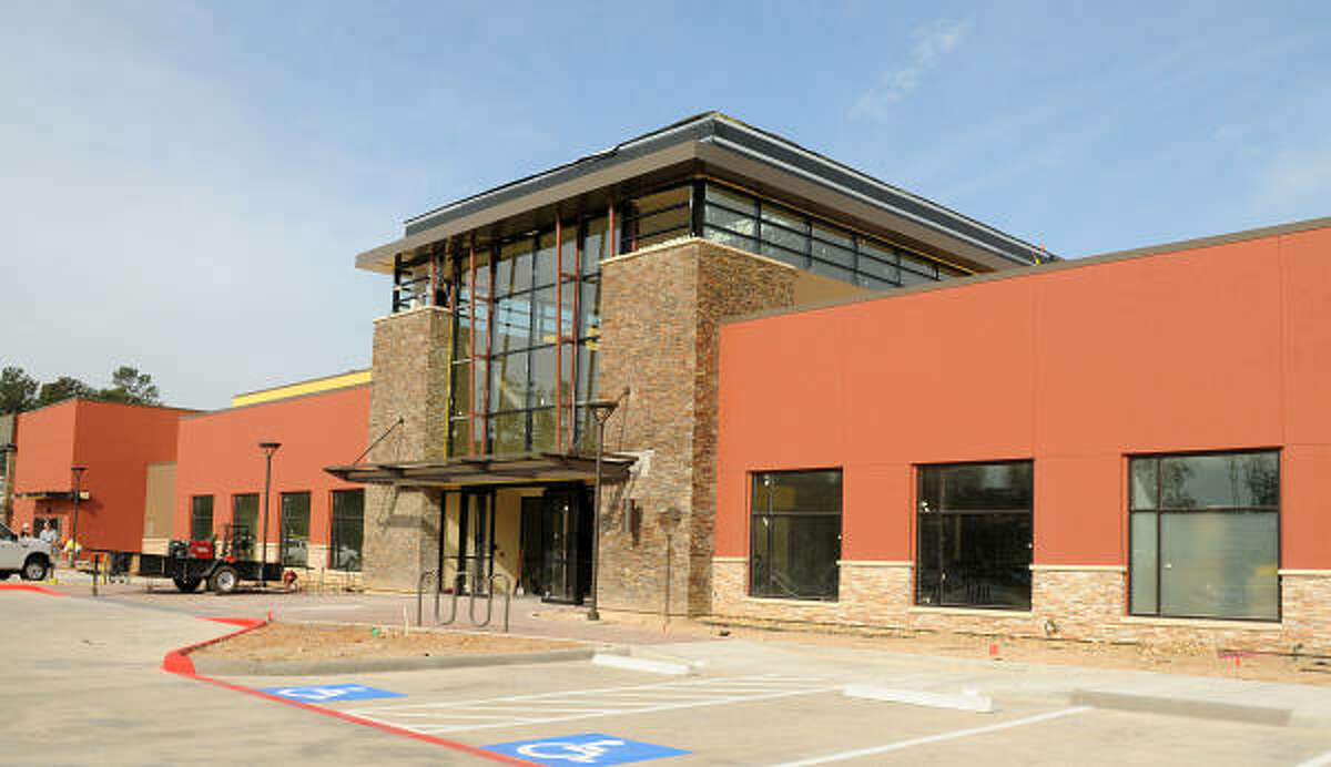 The entrance to the new Villa Sports building, 4141 Technology Forest Drive in The Woodlands.