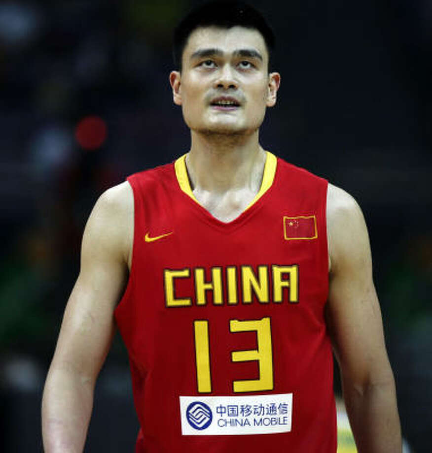 Yao Ming heard about the trade while he and Luis Scola were at a tourney in Nanjing, China. Photo: Elizabeth Dalziel, AP